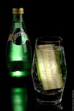 Perrier and cucumber