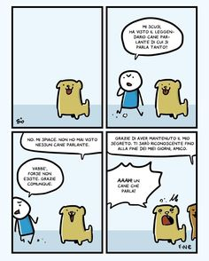 Un cane che parle Fantasy Comics, Lol, Fantasy World, Funny Comics, Funny Posts, Vignettes, Nerdy, Funny Pictures, Memes