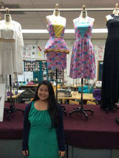 Designer Courtney Hamada.  Honolulu CC fashion technology program.