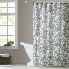 Found it at Wayfair - Lablanc Cotton Toile Shower Curtain
