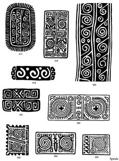 Design Motifs of Ancient Mexico CD-ROM and Book (gorgeous but also so much like blockprint) Arte Tribal, Tribal Art, Doodles Zentangles, Zentangle Patterns, Ethnic Patterns, Textures Patterns, Block Patterns, Pattern Art, Pattern Design