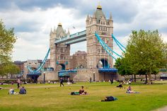 Tower Bridge and park.