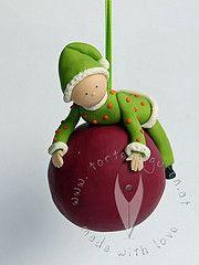 Weihnachten Christbaumkugel Elf