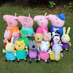 2015 Brinquedos 16PCS/Lot Peppa Pig Family Wholesale Plush Toys High Quality Washable Kids Toddler Toys Stuffed Animals & Plush