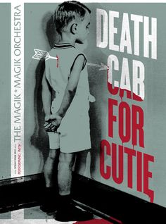Death Cab For Cutie poster, by Work Of Self.