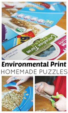 Environmental Print Puzzles Scissor Skills Activity from Little Bins for Little Hands Literacy Activities, Educational Activities, Activities For Kids, Preschool Literacy, Educational Websites, Preschool Ideas, Environmental Print, Scissor Skills, Early Literacy