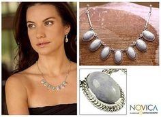 Hand Crafted Sterling Silver Lavender Jade Necklace - Eternal Love | NOVICA