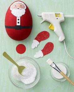 Como hacer adornos de Papa Noel para colgar en el arbol