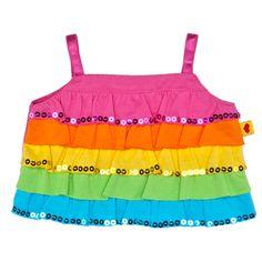Rainbow Ruffle Tank Top - Build-A-Bear Workshop US one of Olivia's Build a Bear has this shirt!!