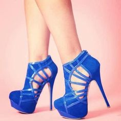 Cool Shoes BLUE HIGH HEELS 341  2013 Fashion High Heels .....need to be in a darker more royal blue