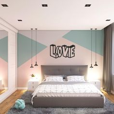 love metal wall art, love metal wall hanging bedroom decor, valentine's day gift, gift for her him, metal love sign artwork, love wall decor Bedroom Wall Designs, Bedroom Wall Colors, Room Ideas Bedroom, Bedroom Styles, Home Decor Bedroom, Girl Bedroom Walls, Bedroom Paint Design, Kids Bedroom Paint, Master Bedroom