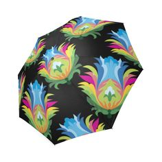 Colorful Floral Vintage Pattern Foldable Umbrella