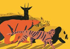 """Illustrations by Mari Kanstad Johnsen for """"Eg er eg er eg er"""", collection of poems by Ruth Lillegraven: http://marikajo.com/Eg-er-eg-er-eg-er"""