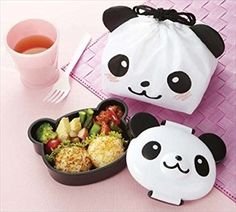 Amazon.com: CuteZCute Kids 1.6-Cup Bento Lunch Box with Cloth Bag, 12.5-Ounce: Kitchen & Dining