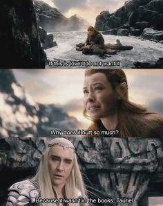 In which Thranduil completely burns Tauriel.