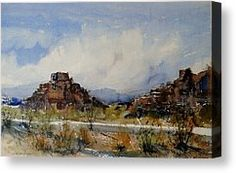 The American West Canvas Print by Sandra Strohschein