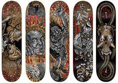 Dennis McNett x Anti-Hero Series 1 Skate Decks, Skateboard Art, Hero, Studio, Artist, Products, Skate Art, Artists, Studios