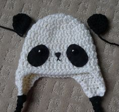 panda hat and diaper cover free crochet pattern :D