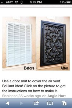 Cover your air vent.... Great idea