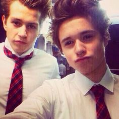 Brad and James from The Vamps