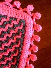 Interlocking Crochet™ - Gumdrop Edging ~ free pattern  ༺✿Teresa Restegui http://www.pinterest.com/teretegui/✿༻