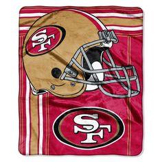 San Francisco 49ers Blanket - 50x60 Royal Plush Raschel Throw - Touchback Design Z157-8791807007