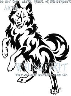 This is 's completed tattoo of a climbing tribal wolf with a pawprint added into the tribals. The commissioner's inked tattoo can be seen here: Please do not copy, trace, alter, or redistribute thi...