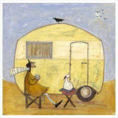 Signed limited edition artwork by popular contemporary artist Sam Toft, entitled This is the Life. Oil Pastel Crayons, Number Art, Found Art, Popular Artists, Whimsical Art, Limited Edition Prints, The Life, Lovers Art, Fine Art Paper