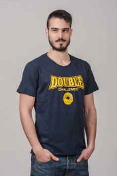 """Ανδρικό T shirt """"Double Challenge"""" Navy"""