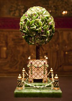Bay Tree Faberge easter egg, presented by Emperor Nicholas II to his mother in 1911.