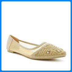 Minetom Damen Mädchen Transparente Folie Schuhe Süßen Stil Spitz Zehe Schuhe Mit Bowknot Beige 40 qHP7O