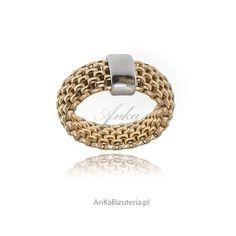 pierścionek srebrny pozłacany dla kobiet Wedding Rings, Engagement Rings, Bracelets, Jewelry, Rings For Engagement, Bangles, Jewlery, Jewels, Commitment Rings