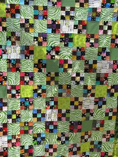 """seen on lollyquiltz // great tips for making a """"free"""" quilt...using scraps, leaders/enders, etc."""