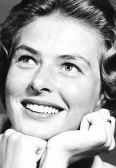 When they were young.. Ingrid Bergman