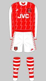 1994-1996 Arsenal Kit