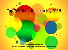 Jane Hart's independent resource site about learning trends, technologies and tools