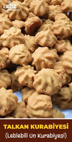 Talkan Kurabiyesi (Leblebili Un Kurabiyesi), Cookie Recipes No Flour Cookies, Cake Cookies, Easy Cake Recipes, Cookie Recipes, Dessert In A Mug, Butter Salmon, Baked Garlic, Turkish Recipes, Desert Recipes