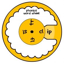 Phonics Word Wheel ishareprintables.com #freeprintables #learning