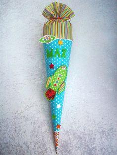 Schultüte aus Stoff, Schultüte Rakete, Rakete 1 von BeBeCo-Zauberhaft auf DaWanda.com