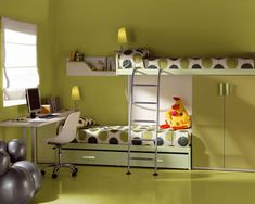 Creating Beautiful Kids Room With Stunning Toddlers Room Decorating Ideas: Stunning Toddlers Room Decorating Ideas With Lovely Study Desk And Charming Window Shades And Astonishing Green Wall Color Decoration Ideas  ~ kidlark.com Apartment Inspiration