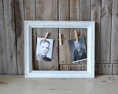 White Wooden Triple Picture Frame With Jute and by ShabbyChicLife, $30.00