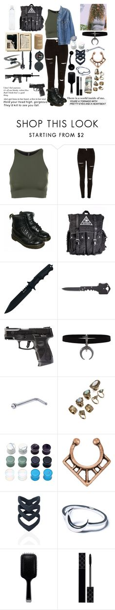 """""""read the D"""" by threedaystoremember ❤ liked on Polyvore featuring Onzie, River Island, Levi's, Dr. Martens, Handle, Hot Topic, The Rogue + The Wolf, Disturbia, GHD and Gucci"""