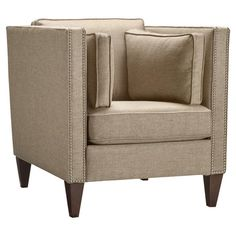 Whether you're adding to your living room seating group or creating a standalone accent in the master suite, this handsome arm chair offers a touch of style ...