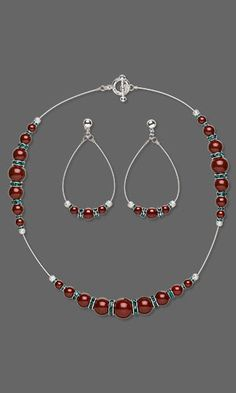 Jewelry Design - Single-Strand Necklace and Earring Set with Swarovski Crystal - Fire Mountain Gems and Beads