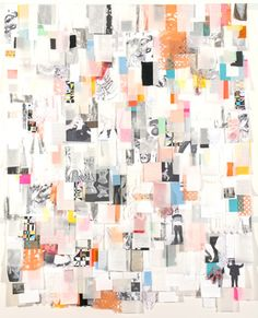 Pattern of void, 2005  mixed media collage: fabric, paper, photocopy, Mexican papercuts, 154 x 189 cm by Christina Wilson