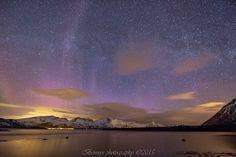 Purple Aurora and the Milky Way: Sky Scenes from Northern Norway
