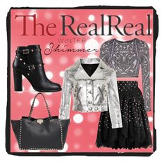 """Holiday Sparkle With The RealReal: Contest Entry"" by homespunjoy on Polyvore featuring Valentino, Hervé Léger and Marc by Marc Jacobs"