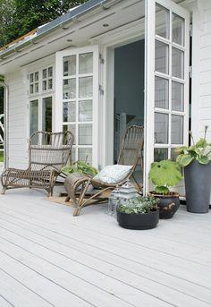Security French Windows I White Wood Decking I Balcony
