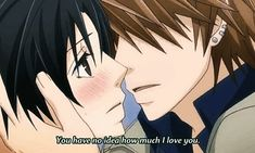 You have no idea how much I love you. | Anime/manga: Sekaiichi Hatsukoi [Shouta Kisa x Kou Yukina] | #gif
