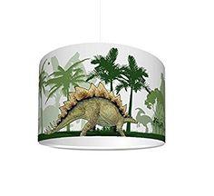 """Kinderzimmer Lampenschirm """"Dinosaurier World"""" KL57 - für Kinderzimmer als Steh- oder Hängeleuchte / Deckenlampe"""